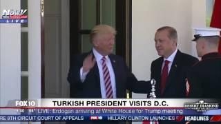 WATCH: President Trump Greets Turkish President Erdogan at White House Arrival (FNN)