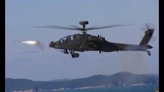 Korean AH-64E APACHE GUARDIAN fires AIM-92 STINGER, shoots down...