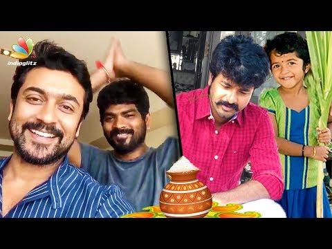 Xxx Mp4 Surya Vignesh Shivan Sivakarthikeyan And More Celebs Celebrate Pongal 2018 Tamil Cinema News 3gp Sex