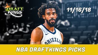 11/16/18 NBA DraftKings Picks - Money Six