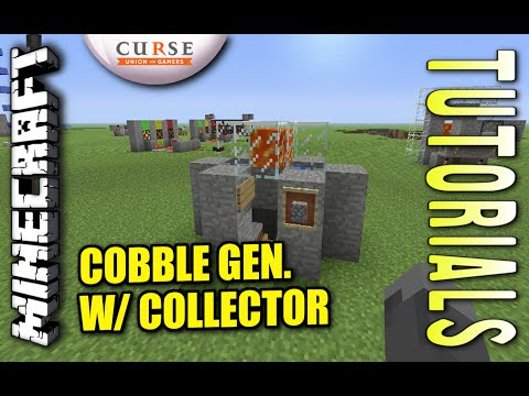 Minecraft PS4 - COBBLE GEN. W/ COLLECTOR - How To - Tutorial ( PS3 / XBOX )