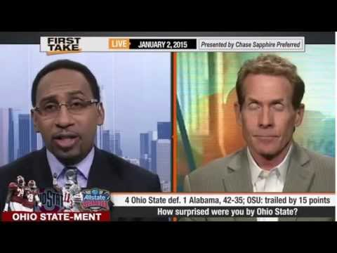ESPN First Take Ohio State Defeats Alabama 42 35 OSU trailed by 15 points First Take