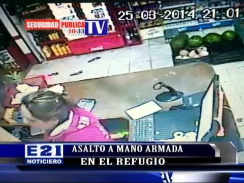 ASALTO A MANO ARMADA EN EL REFUGIO GRABADO POR VIDEOCAMARA