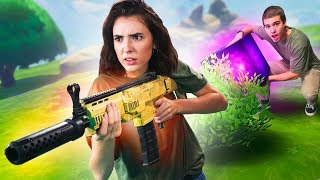 NERF Fortnite Find The Cube Challenge!