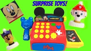 Mickey Mouse Clubhouse Cash Register with Paw Patrol and Toy Surprises | Fizzy Toy Show