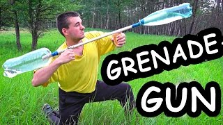 How to make: WaterGRENADE - GUN / Water launcher gun