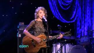 Taylor Swift Performs 'Mine'  - ellen show