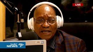 President Zuma graces the Ukhozi FM studios