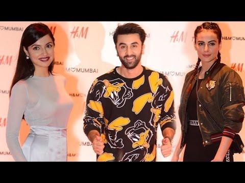 H&M First Store Launch In Mumbai | Ranbir Kapoor, mandana karimi, divya khosla kumar