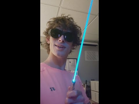 have you ever seen a cyan laser