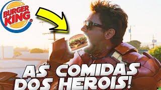 AS COMIDAS MAIS GOSTOSAS E FAVORITAS DOS SUPER HERÓIS
