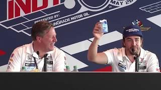 Fernando Alonso Post Indy 500 News Conference