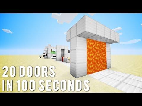 Minecraft: 20 More Doors In 100 Seconds
