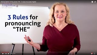 How to pronounce the article THE - 3 rules| Accurate English