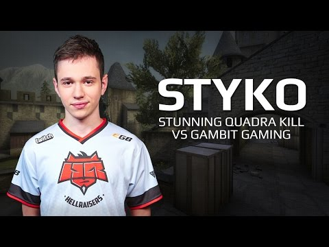 Stunning Quadra Kill by STYKO vs Gambit Gaming at SL i-League StarSeries Season 2 EU Qualifier