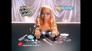 Barbie My Scene My Bling Bling Makeover dolls commercial! 2005 HD