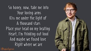 Ed Sheeran - Thinking Out Loud (Lyrics)