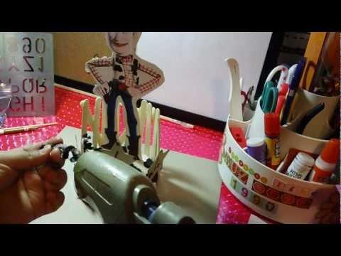 centro de mesa de WOODY toy story para fiestas infantiles