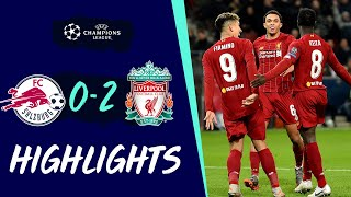 Highlights: Salzburg 0-2 Liverpool | Reds qualify for Champions League knockout stage