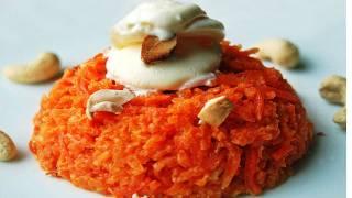 Gajar ka Halwa Pressure cooker recipe video - Gajar Burfi - Quick  by Bhavna