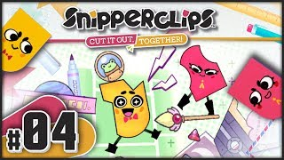 Snipperclips - Part 4   World 4: Cosmic Comics Co-Op 100% Walkthrough! [Nintendo Switch Gameplay]