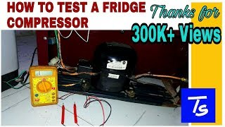 Refrigerator Repair & Compressor check. compressor terminal identification