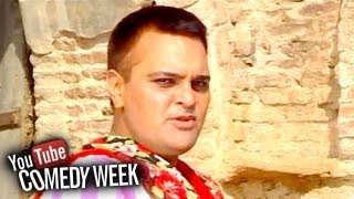 Sexy Lady On Floor - Punjabi Comedy Scene - Family Khusreyan Di - Comedy Week Special