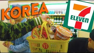 EATING AT 7-ELEVEN IN SEOUL (Convenience Stores in Korea) // Fung Bros World Tour
