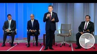 Presidente Santos en el anuncio de descubrimiento de gas en el Caribe - 3 de mayo de 2017