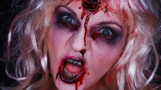 Zombie Barbie- Halloween Make Up