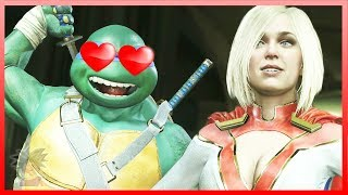 Injustice 2 - All TMNT FLIRTIEST Intro Dialogues