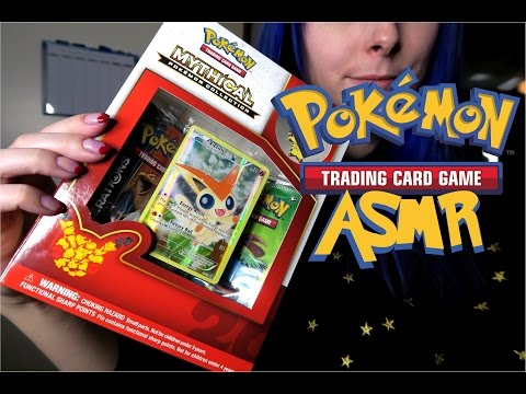 Pokemon TCG ASMR! Victini Mythical Collection Box, Soft-Spoken with Package Crinkling