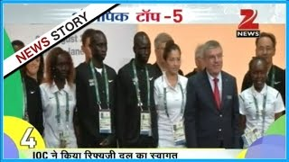 Indian Contingent to Rio Olympics received grand welcome in games village at Rio