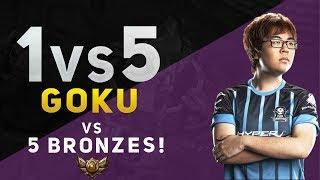 1vs5 - GOKU vs 5 BRONZES!