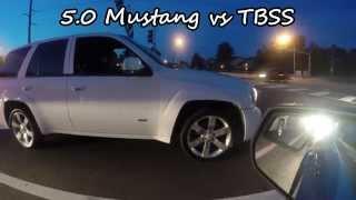 5.0 Ford Mustang vs  Chevy Trailblazer SS