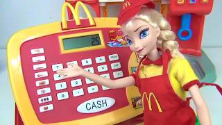 COMPILATION Mcdonald's Drive Thru Cashier Register, Queen Elsa, Princess Moana, Trolls Poppy / TUYC