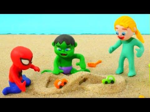 Xxx Mp4 Superhero Babies Play With Sand Frozen Elsa Spiderman Hulk Play Doh Cartoons Stop Motion 3gp Sex