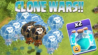 Clash Of Clans - NEW CLONE SPELL!! CLONE WARS!! (Testing on lots of troops)