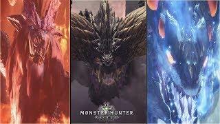 MONSTER HUNTER WORLD - All Monster vs Boss Intro Ingame New Monsters Update 2018