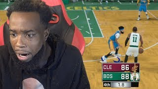 PALMS SWEATY! GUARDING KYRIE IRVING BUZZER BEATER! Cavs Vs. Celtics NBA 2K18 MyCareer Episode 10