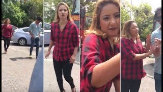 Teena Shanell   Chillie Thilanka   Fight On Road With Fans