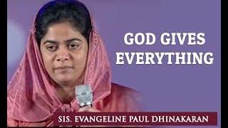 God Gives Everything (English - Telugu) - Sis. Evangeline Paul Dhinakaran