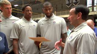 Coach K and the USA Men's National Team Visit West Point
