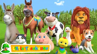 Animal Sound Song | Kindergarten Videos For Children | Cartoons Videos By Little Treehouse