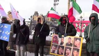 Canadian-Iranian protest in front of Parliament Hill in Ottawa on January 6th, 2018