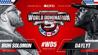 KOTD - Rap Battle - Iron Solomon vs Daylyt | #WD5