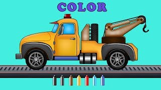 Kids TV Channel | Tow Truck |  Learn Colors with Emergency Vehicles | Toddler
