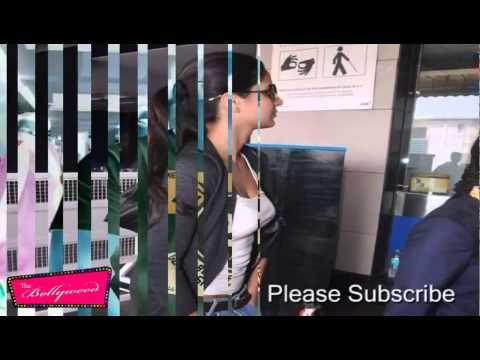 Supar Star Salman Khan With Sexy Katrina Kaif Caught At Airport