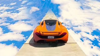 MILE HIGH IMPOSSIBLE CAR TIGHTROPE! (GTA 5 Funny Moments)