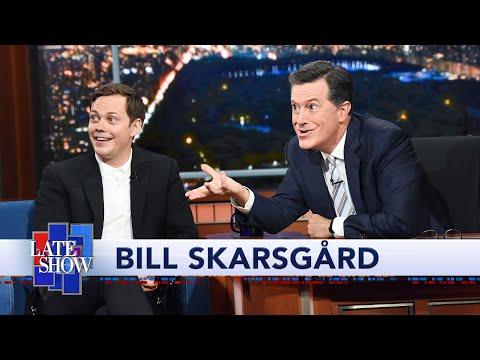 Bill Skarsgård Teaches Colbert The Pennywise Smile